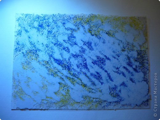 Результат моего эксперимента с текстурной пастой.  фото 4