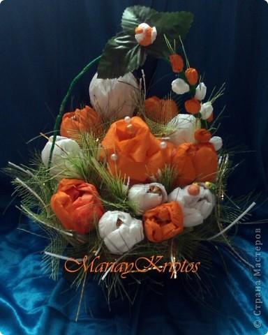 Розы и крокусы (заказ для декора)
