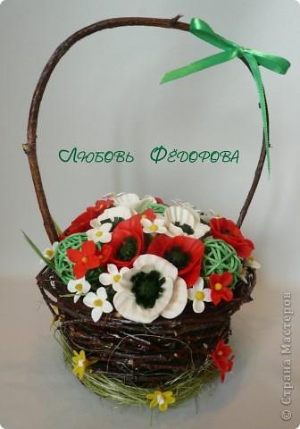 Всем привет!!!!!!!!!!!!!!!!! Заканчиваю отчет по изделиям из веточек березы. Панно с диким виноградом. Листья и ягоды из ХФ. фото 2