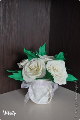 Оригами розы из гофрированной бумаги