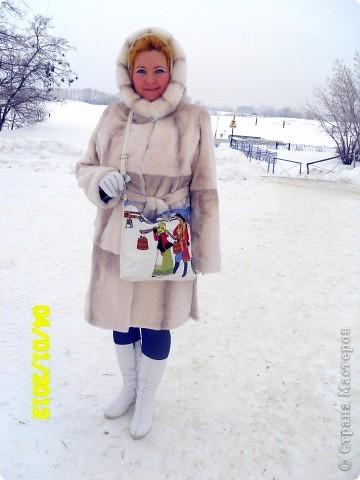 """Сумка из кожи """"Зима"""" фото 5"""