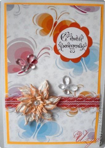 Здравствуйте! Сегодня я снова с открытками , при создании которых использовала цветок гардению  http://stranamasterov.ru/node/321021?tid=451%2C311 фото 10