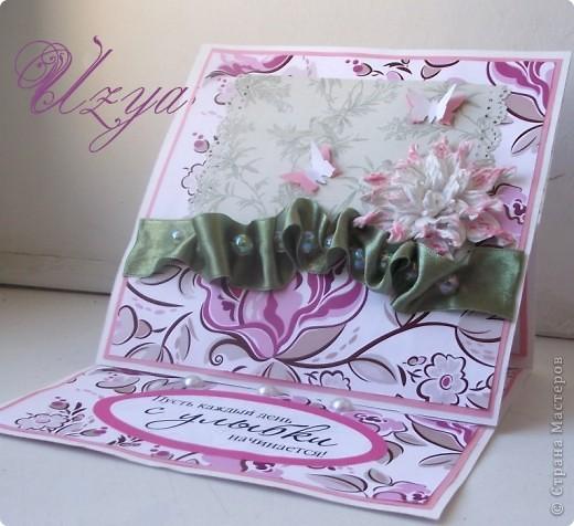 Здравствуйте! Сегодня я снова с открытками , при создании которых использовала цветок гардению  http://stranamasterov.ru/node/321021?tid=451%2C311 фото 11