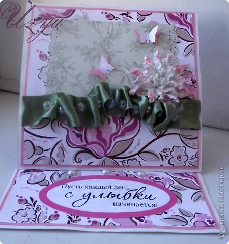 Здравствуйте! Сегодня я снова с открытками , при создании которых использовала цветок гардению  http://stranamasterov.ru/node/321021?tid=451%2C311 фото 12