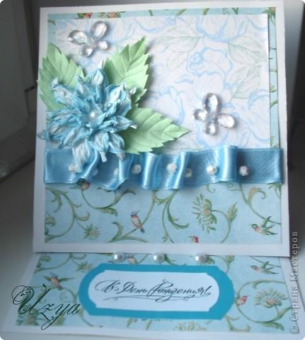Здравствуйте! Сегодня я снова с открытками , при создании которых использовала цветок гардению  http://stranamasterov.ru/node/321021?tid=451%2C311 фото 1