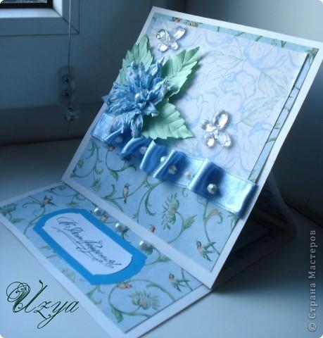 Здравствуйте! Сегодня я снова с открытками , при создании которых использовала цветок гардению  http://stranamasterov.ru/node/321021?tid=451%2C311 фото 2