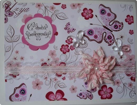 Здравствуйте! Сегодня я снова с открытками , при создании которых использовала цветок гардению  http://stranamasterov.ru/node/321021?tid=451%2C311 фото 4