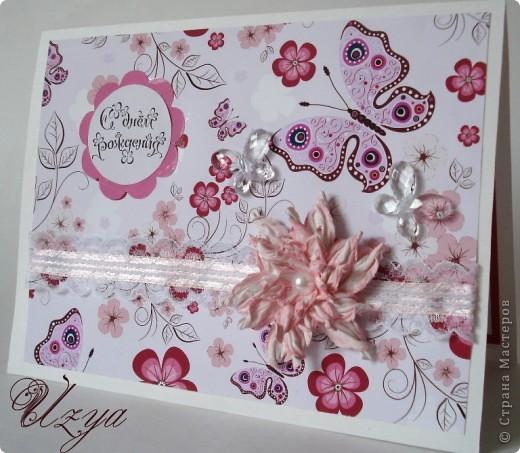 Здравствуйте! Сегодня я снова с открытками , при создании которых использовала цветок гардению  http://stranamasterov.ru/node/321021?tid=451%2C311 фото 5