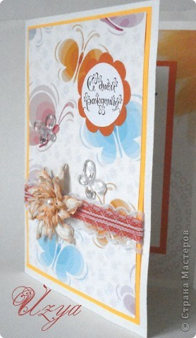 Здравствуйте! Сегодня я снова с открытками , при создании которых использовала цветок гардению  http://stranamasterov.ru/node/321021?tid=451%2C311 фото 8