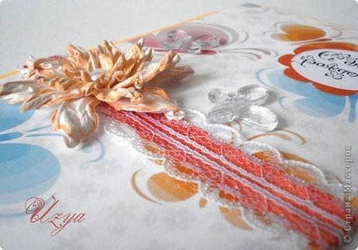 Здравствуйте! Сегодня я снова с открытками , при создании которых использовала цветок гардению  http://stranamasterov.ru/node/321021?tid=451%2C311 фото 9