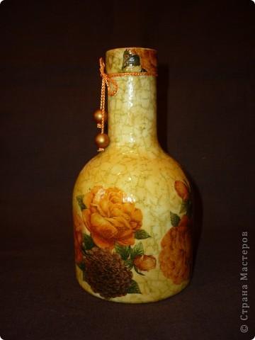Всеми любимая бутылка.Так и просится в вазочку. фото 4