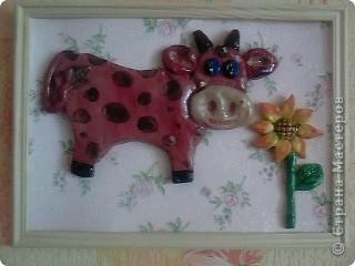 Бычок - подарок на день рождение коллеге по работе. Она по гороскопу телец. Фото сделано у нее дома. фото 1