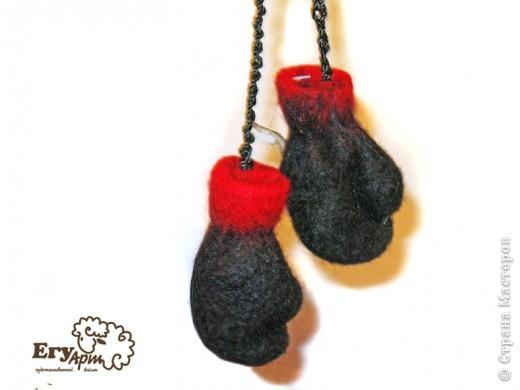 Сувенирные боксерские перчатки. фото 5