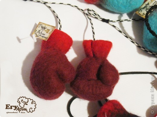Сувенирные боксерские перчатки. фото 4