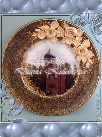 Тарелка была сделана для Настоятеля Храма в подарок ) фото 5