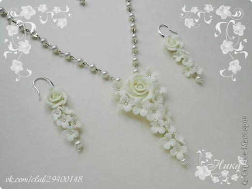 """Свадебные украшения """"Каскад"""" с розами фото 1"""