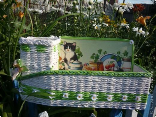 Летнее настроение. Давно обещала дочке под косметику коробочку, а так как она у меня кошатница еще та, собирает  кошечек в разных видах, то и на коробочке кошки прижились. фото 4