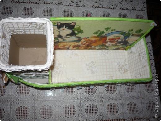 Летнее настроение. Давно обещала дочке под косметику коробочку, а так как она у меня кошатница еще та, собирает  кошечек в разных видах, то и на коробочке кошки прижились. фото 5