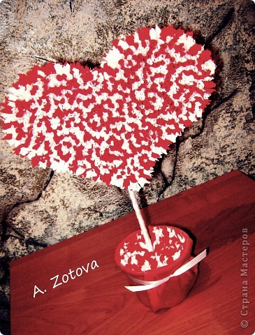 дерево из гофрированной бумаги фото 2