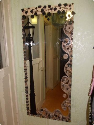Старое зеркало потемнело по краям, выглядело очень не эстетично! Вот придумался такой вариант продления жизни нашему зеркалу. фото 1