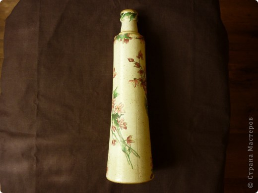 Сотворилась такая вот вазочка- бутылочка. фото 2