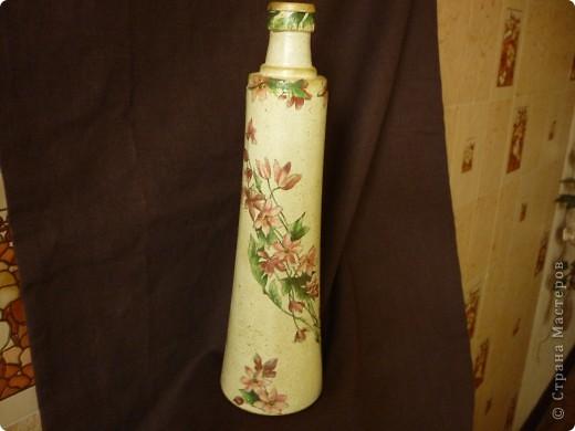 Сотворилась такая вот вазочка- бутылочка. фото 5