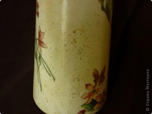 Сотворилась такая вот вазочка- бутылочка. фото 3