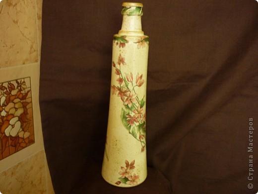 Сотворилась такая вот вазочка- бутылочка. фото 1