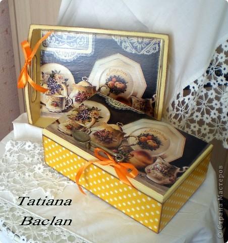 Чайный набор. Короб для сладостей и поднос. фото 2