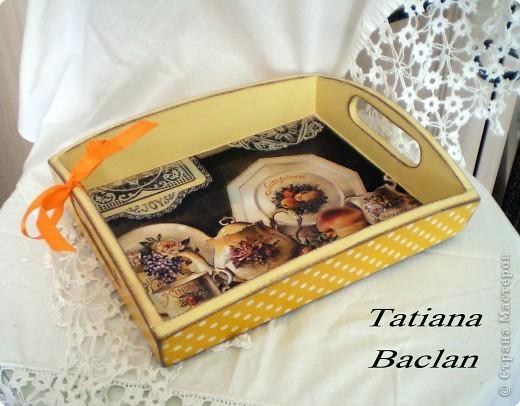 Чайный набор. Короб для сладостей и поднос. фото 7