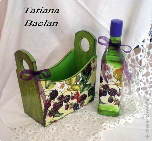 Наборчик для ванной или для кухни. Бутылочка стеклянная предназначена для лосьона, масла либо для уксуса. фото 4