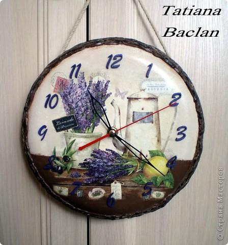 Прованс. Часы - переделка из старой сковородки. фото 1