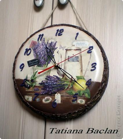 Прованс. Часы - переделка из старой сковородки. фото 4