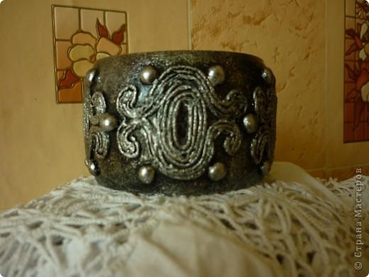 Спасибо Татьяне Сорокиной за ее изобретение http://stranamasterov.ru/node/308701.За вечер, из ничего,получаются очень интересные вещи. Такая вот парочка получилась. фото 2