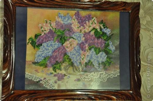 Сирень, вышивка бисером. фото 1