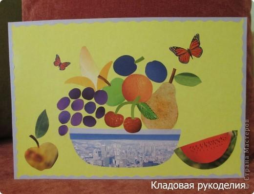 """Аппликация """"Урожай фруктов"""""""