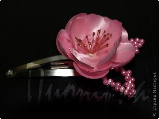 """Бутоньерка и заколка для волос """"Розовый шиповник"""" фото 3"""
