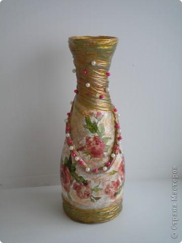 Вазочка из бутылки  фото 2