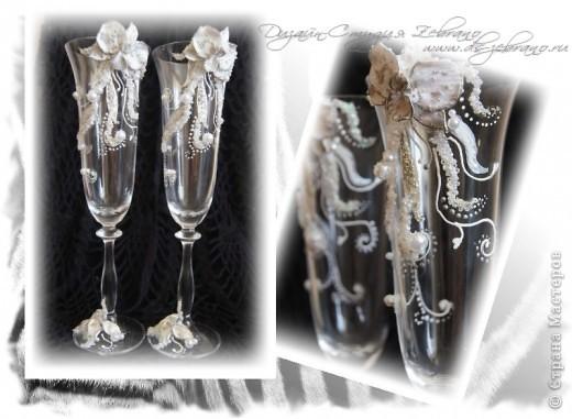 """Свадебные бокалы """"Орхидеи"""" фото 1"""