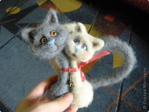 МК по валянию парных кошек