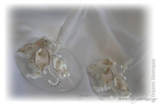 """Свадебные бокалы """"Орхидеи"""" фото 4"""
