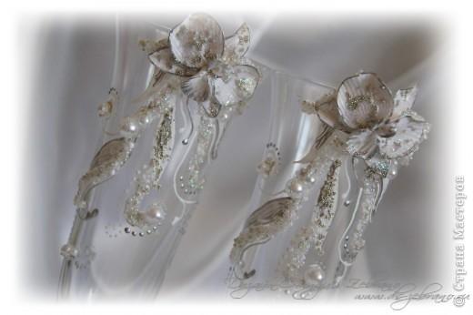 """Свадебные бокалы """"Орхидеи"""" фото 3"""