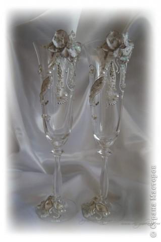 """Свадебные бокалы """"Орхидеи"""" фото 2"""