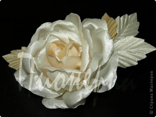 Эту розу я сделала так :разобрала  живую розу на лепестки, выбрала  самые красивые и сделала с них лекала. фото 1