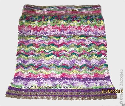 Добрый день, дорогие жители Страны Мастеров! Хочу представить Вам стильную летнюю юбочку с интересным чередованием узоров. На эту работу меня вдохновила дизайнер Флора Мази, которая представила замечательную модель юбки в Журнале мод №534(рукоделие). За что ей огромное спасибо!!! фото 1