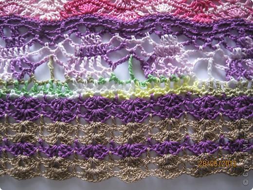 Добрый день, дорогие жители Страны Мастеров! Хочу представить Вам стильную летнюю юбочку с интересным чередованием узоров. На эту работу меня вдохновила дизайнер Флора Мази, которая представила замечательную модель юбки в Журнале мод №534(рукоделие). За что ей огромное спасибо!!! фото 9