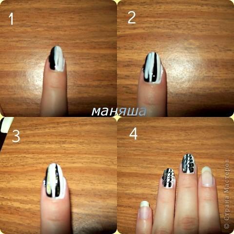 Рисунок из лака на ногтях