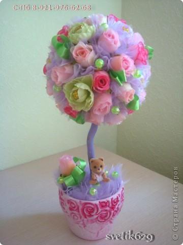Вот сделала дерево своей мечты) Использовала свои любимые цвета получилось нежно и романтично ) фото 1