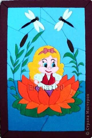 Большой тюльпан  на грядке вырос, И в чашечке его, внутри, Малютка- девочка  явилась Прекрасней утренней зари! фото 1