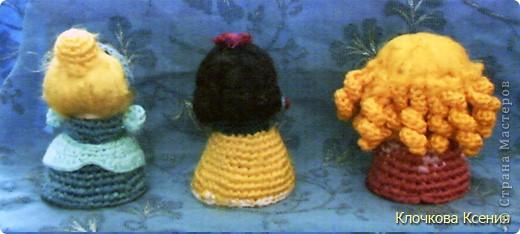 Вот таких принцесс (Золушка, Белоснежка и Аврора из Спящей красивыцы) я придумала сама. фото 3